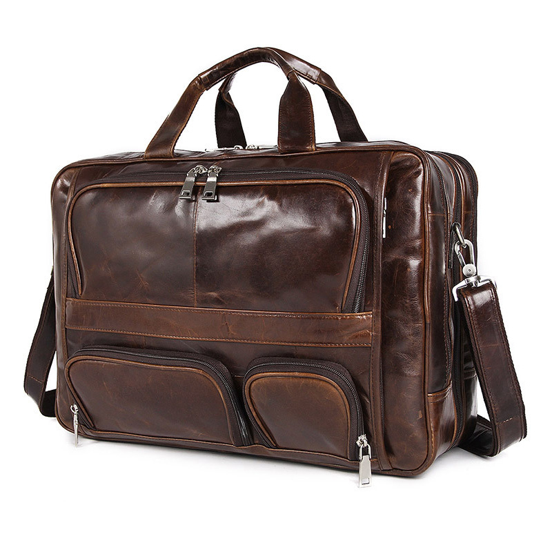 MAHEU Big Leather Briefcase Double Layer Genuine Leather Office Business Bags For Layer Doctor Real Leather Laptop Briefcase 17 image