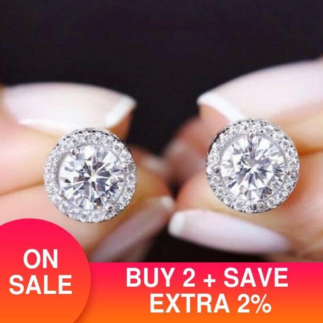 2020 Fashion Luxury 925 Sterling Silver 6mm Small Zircon Stud Earing Earrings for women christmas gift korean jewelry E232 1