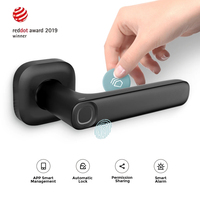 Biometric Lock Semiconductor Fingerprint Lock Smart Door Lock Electronic Pplit Handle Lock Bluetooth Unlock