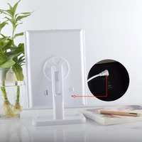 High Quality 180 Degree Rotation Screen Folding Make up Mirrors With 24 LED Lights Pocket Mirror Makeup Tools EK New