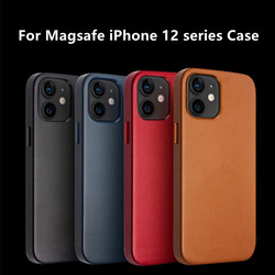 Original Leather Cases For Apple iPhone 12 pro Leatherwear For Magsafe Case 12 mini 12 Pro Max Magnetic Back Cover