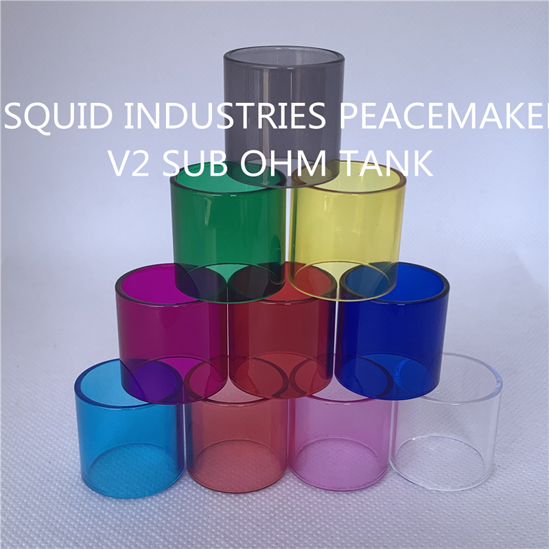 SQUID INDUSTRIES PEACEMAKER V2 SUB OHM TANK Normal and Bulb Replacement Glass Tube 1