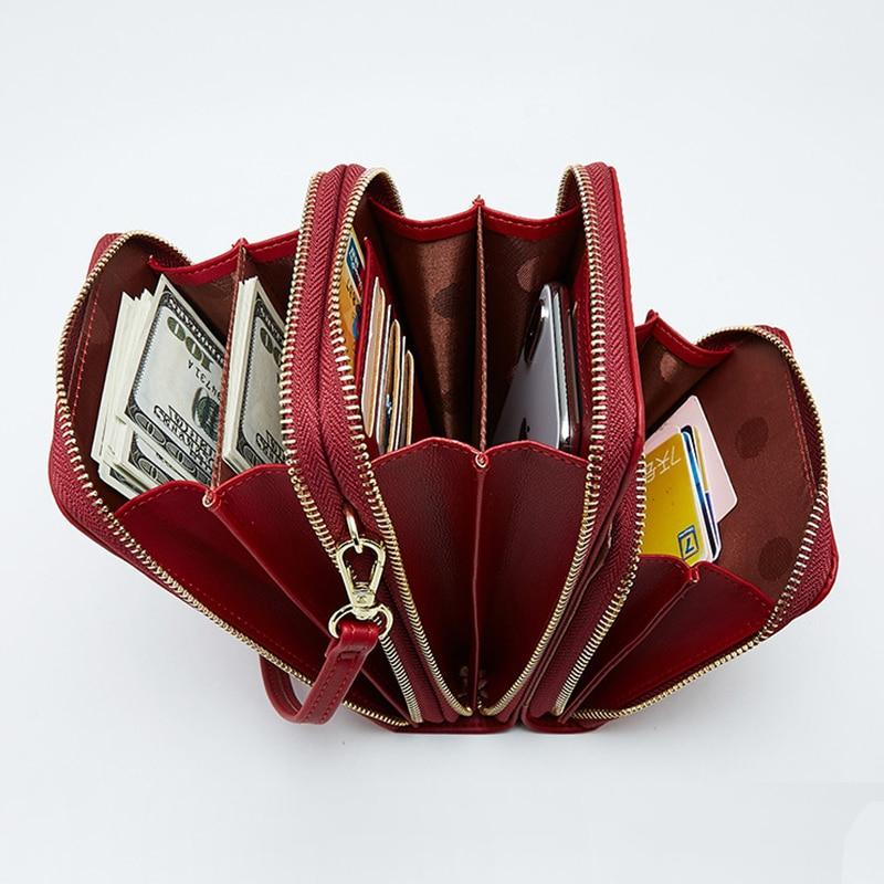 Luxury Leather Messenger Bags Women Clutch Mini Crossbody Shoulder Bag Female Large Capacity Phone Bag Ladies Purse With Zipper