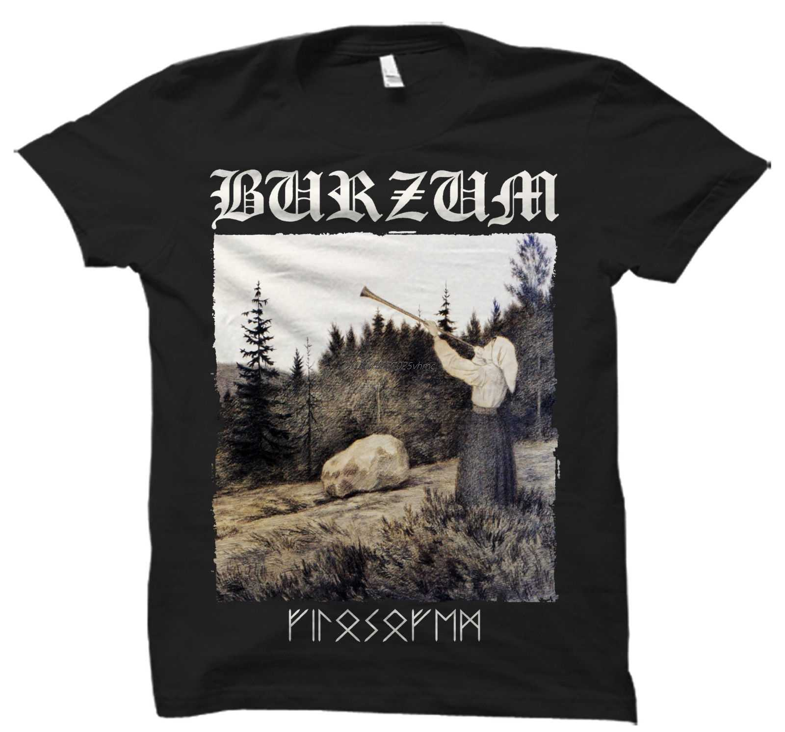 FILOSOFEM BRZM T SHIRT Schwarz Metall Mayhem Darkthrone Bathory Kaiser Unsterblich Herren Tops Kühle O Neck T-Shirt Top T Plus größe