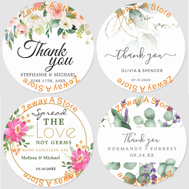 100 Pieces, 3-10CM, Custom Personalized, Wedding Stickers, Invitations, Candy Favors Gift Boxes Labels, Birthday, Logo, Photo