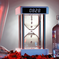 Anti Gravity Hourglass Night Light Clock Water Drop Backflow Bedroom office decoration Ambience Light Creative Christmas Gift