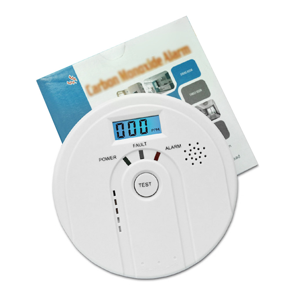 High Quality LCD CO Carbon Monoxide Detector Poisoning Gas Alarm LED Sensor Warning Tester