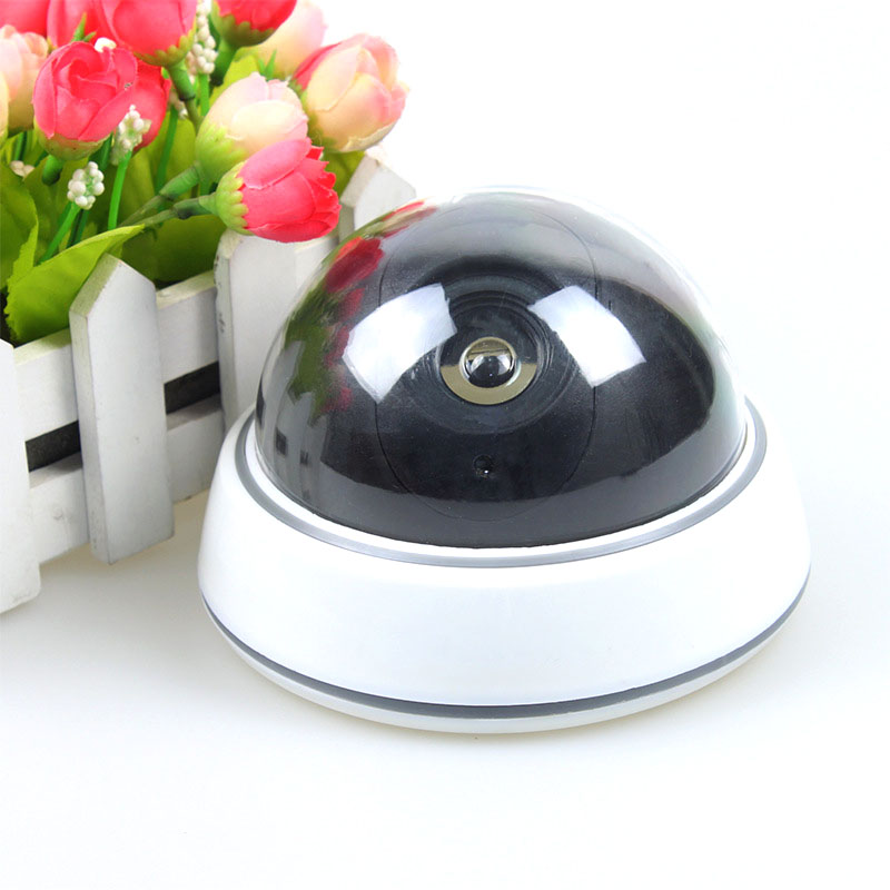 Simulation Dummy Security Surveillance Fake Camera With LED Light For Outdoor Indoor PUO88