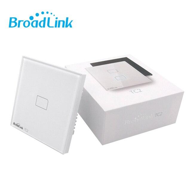 Broadlink TC2 1/2/3 Gang royaume-uni WiFi commutateur mur tactile panneau lumineux commutateur 433MHz contrôle sans fil Via RM Pro RM4 Pro pour la maison intelligente
