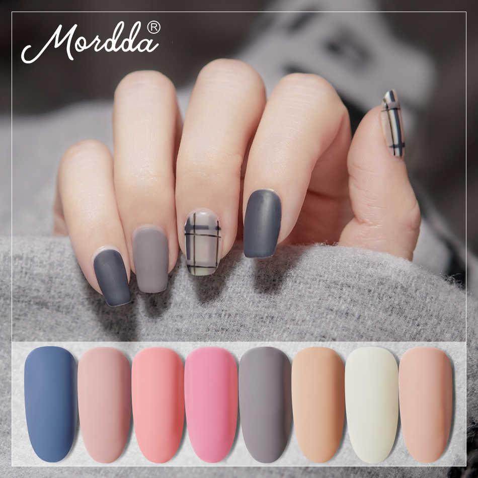 Esmalte de uñas MORDDA de 8 ML, barniz de uñas LED UV para manicura, esmalte de Gel semipermanente de 60 colores, herramientas de diseño DIY