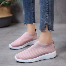 2020 new breathable mesh summer women sneakers solid color sock sneakers