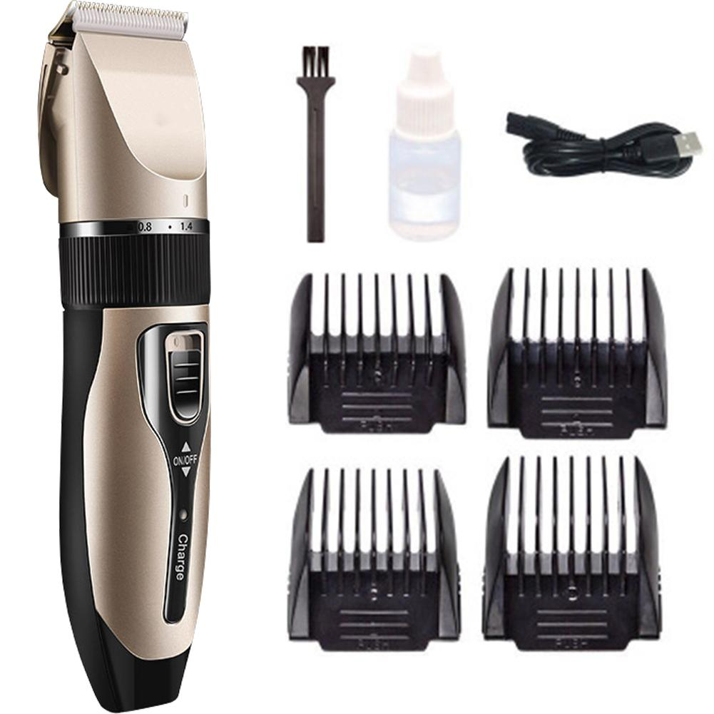 Drop Ship Pet Electric Clipper Rechargeable Low-noise USB Hairdressing Shaving Electric Cat Dog Hair Trimmer Grooming Cutter image