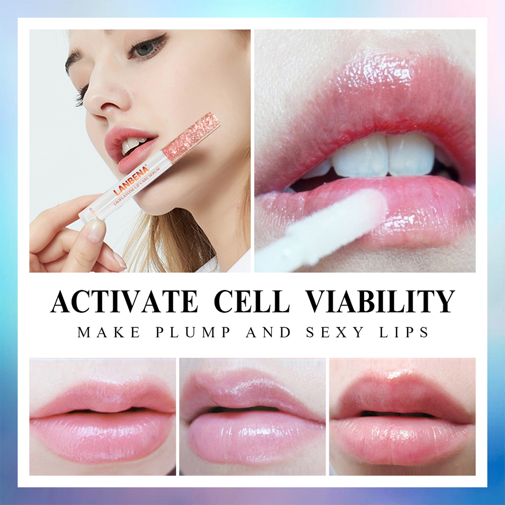 LANBENA Lip Plumper Serum Lip Care Liquid Lip Gloss Lip Mask Increase Lip Elasticity Reduce Fine Lines Repairing Moisturizing