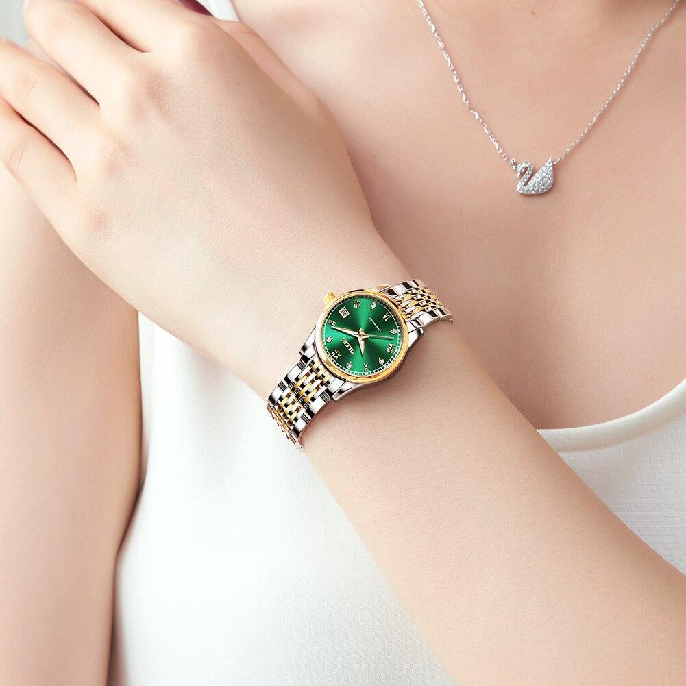 OLEVS  Women Watches Mechanical Watch Luxury Bracelet Wrist Wristwatch Elegant Ladies Automatic Clock Watch Relogio Feminino 5