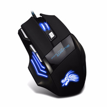 Professional USB Wired Gaming Computer Mouse 5500 DPI Optical LED Lighting Mouse Gamer for Computer PC x8 super quiet wireless gaming mouse 2400dpi rechargeable computer mouse optical gaming gamer mouse for pc black drop shipping
