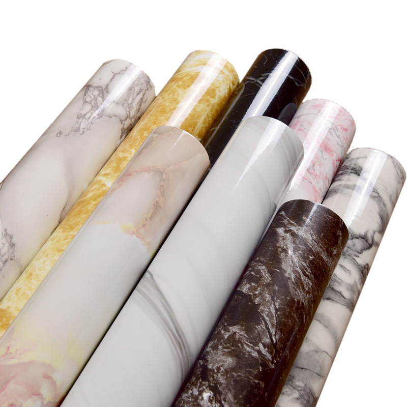 100CM Thick Waterproof PVC Self-adhesive Wallpaper Imitation Marble Pattern Stickers Wallpaper For Walls Renovation Of Furniture