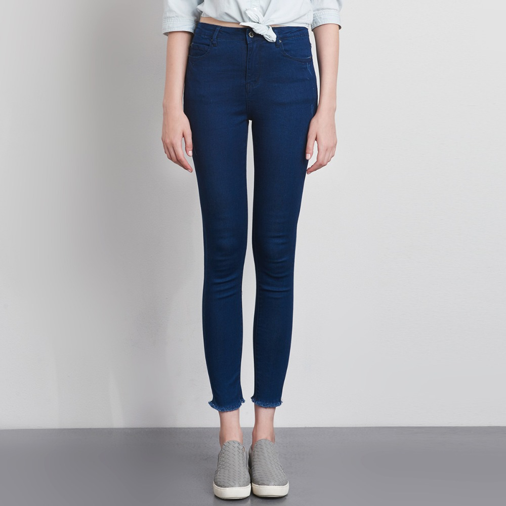 LEIJIJEANS Fashion Autumn Leggings Blue S 6XL Woman Mid Waist Plus Size women High Elastic Full Length Pants Skinny pencil Jeans 21