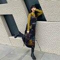 QWEEK Tie Dye Slip Y2k Платье длинное в стиле Харадзюку французское винтажное ретро летние платья для женщин 2021 повседневные наряды Женский комплект