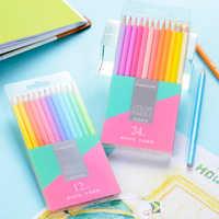 Marco 12/24 Macaron Series Pastel Colors Non-toxic Color Pencil lapis de cor Professional Colored Pencils for School Supplies
