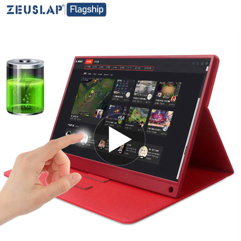 15,6 inch Touch Tragbare <font><b>Monitor</b></font> Full HD 1080 IPS USB C Tragbare <font><b>Monitor</b></font> Gebaut-in Dual Lautsprecher Kompatibel mit laptop notebook image