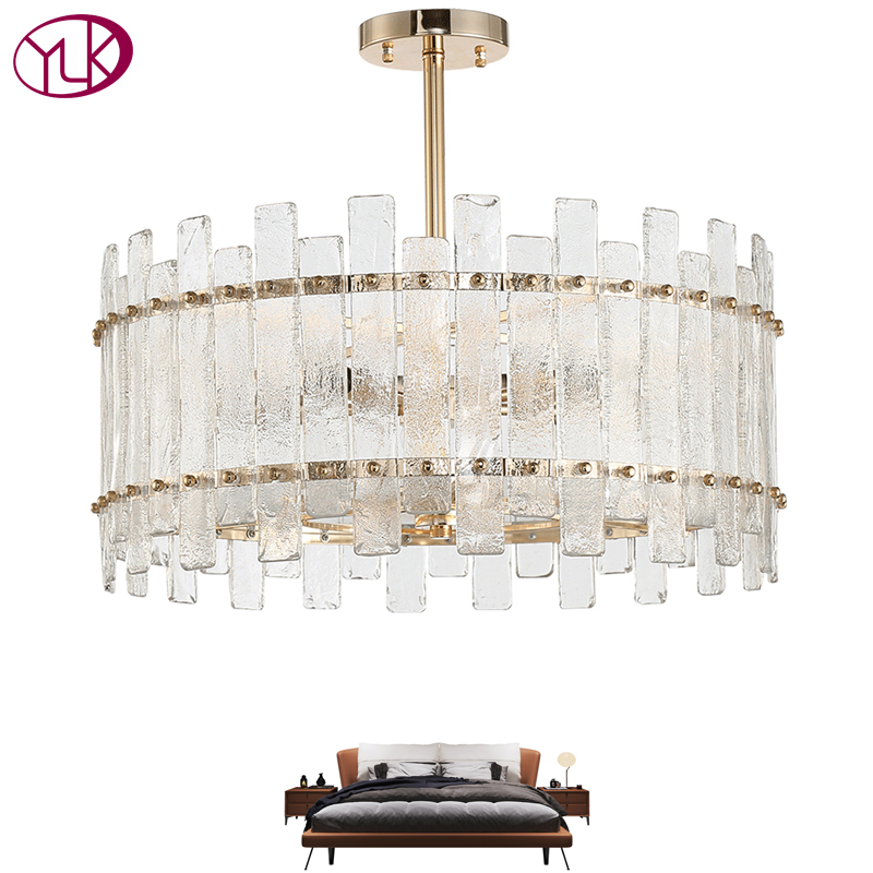 Modern Round Crystal Chandelier Lighting For Dining Room Bed Room LED Light Kitchen Island luxury Chandeliers Light Fixtures