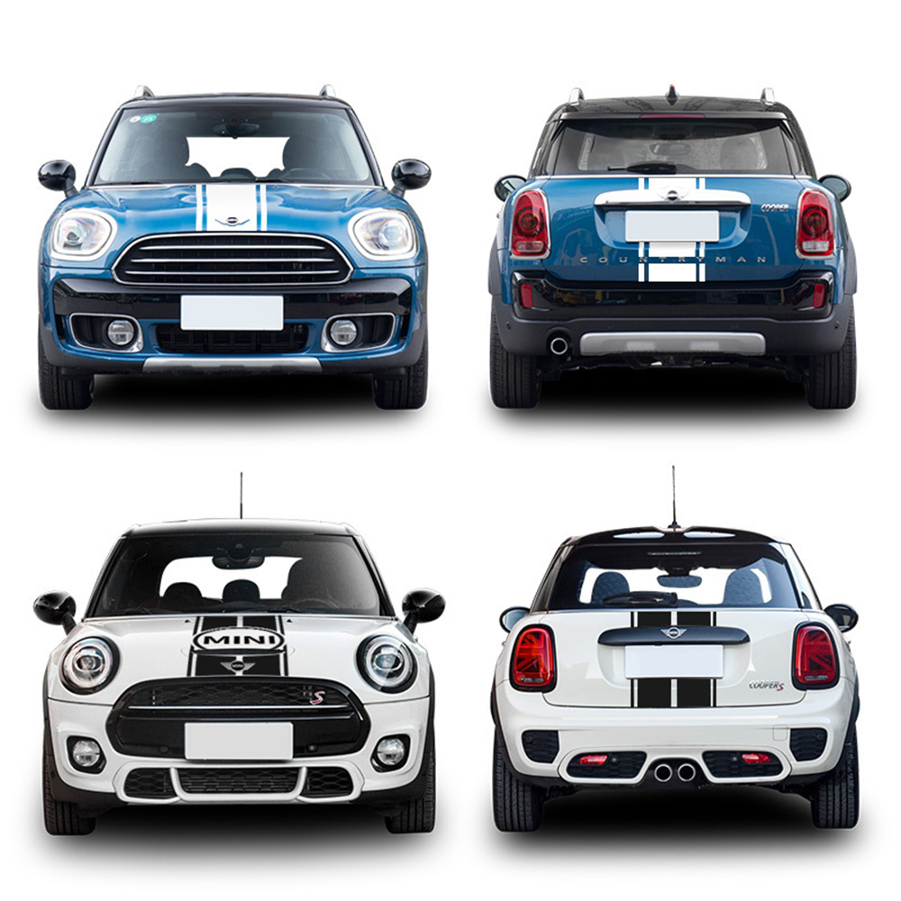 Car Front Head Hood Decal Stickers Trunk Stripe Sticker For MINI Cooper S One R55 R56 R60 R61 F54 F55 F56 F60 Countryman Clubman