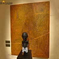 NHDARC Abstrakte Laminierung Afrika Boden Leinwand Druck Malerei Poster Moderne Mode Wand Bild Kunst Für Wohnzimmer Wohnkultur