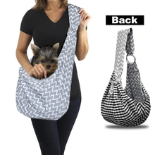 Small Dog Cat Sling Carrier Hands Free Pet Puppy Outdoor Travel Bag Tote Reversible Adjustable Strap Breathable Shoulder