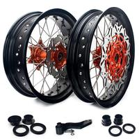 BIKINGBOY 3.5/4.25/4.5/5.0 17 Front Rear Wheels Rims Hubs Spacers Discs For KTM SX 125 2013 2019 SX 150 250 2012 2019 SX F 505