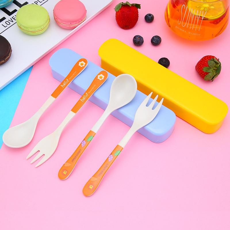 3pcs Baby Feeding Set Bowl Spoon Fork Kids Tableware Christmas Baby Shower Gifts