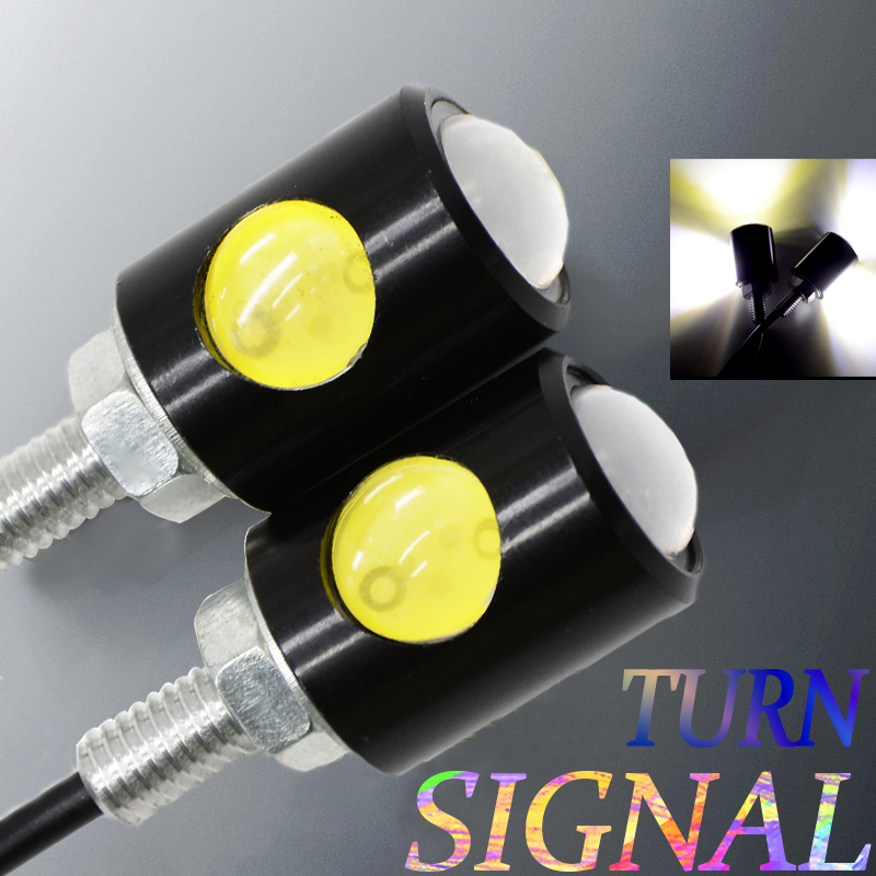 For KAWASAKI Z800 Z900 ZL 600 ZRX1100 ZX10R Unversal Turn Signals Motorcycles In Signal Lamp Motorcycle Turn Signals Light LED