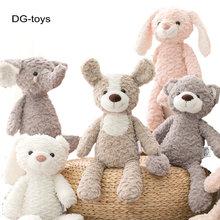 Супермягкая детская Успокаивающая игрушка с длинными ногами, розовый кролик, серый медведь, собака, слон, единорог, мягкие игрушки-куклы с ж...