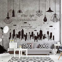 [SHIJUEHEZI] Electric Light Bulbs Wall Stickers DIY Lamps Tall Buildings Home Decor Sticker for Living Room Bedroom Decoration
