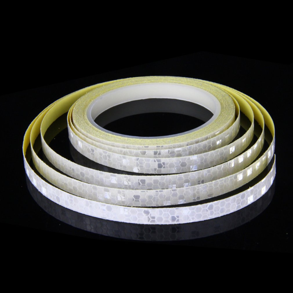 Fluorescent Bike Bicycle Cycling Motorcycle Reflective Sticker Safety Waterproof Wheel Rim Strip Decal Tape