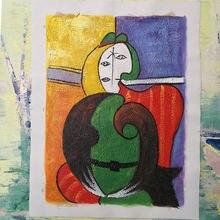 Пикассо Абстрактная живопись ручная краска для гостиной украшения