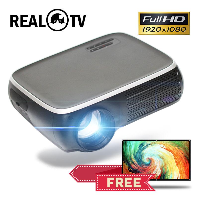 Настоящий ТВ M8S Full HD 1080P проектор 4K 7000 люмен кинотеатр проектор Android WiFi Airplay HDMI VGA AV USB с подарком