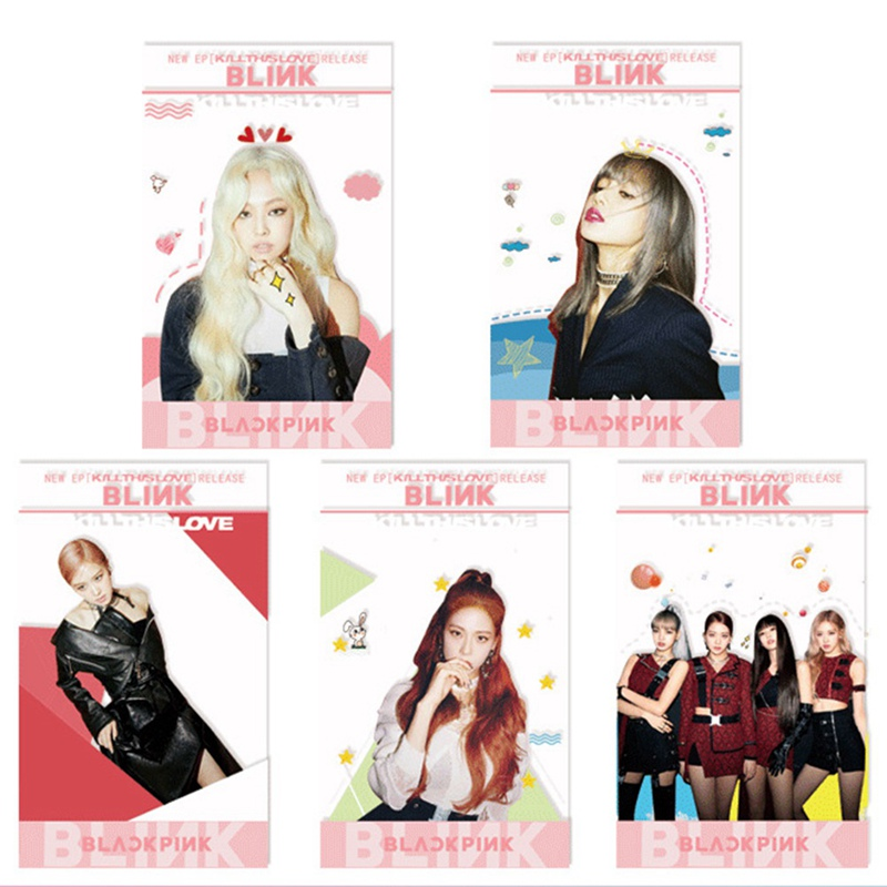 5 Pcs/Set Stary Kids KILL THIS LOVE Album Transparent Photo Card For Fans Gift