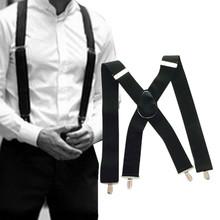 50mm Breit Männer X-Zurück X Form Heavy Duty Hosen Brace Hosenträger Mit Clips Gentleman hosen band Hosenträger tanie tanio CN (Herkunft) Polyester Fest Adult Mode 0514 Strumpfhalter