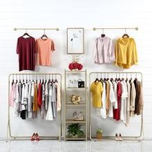 Вешалка для одежды, витрина для одежды, напольная вешалка для женской одежды, Комбинированная Вешалка для магазина одежды, витрина, светильник, Luxur