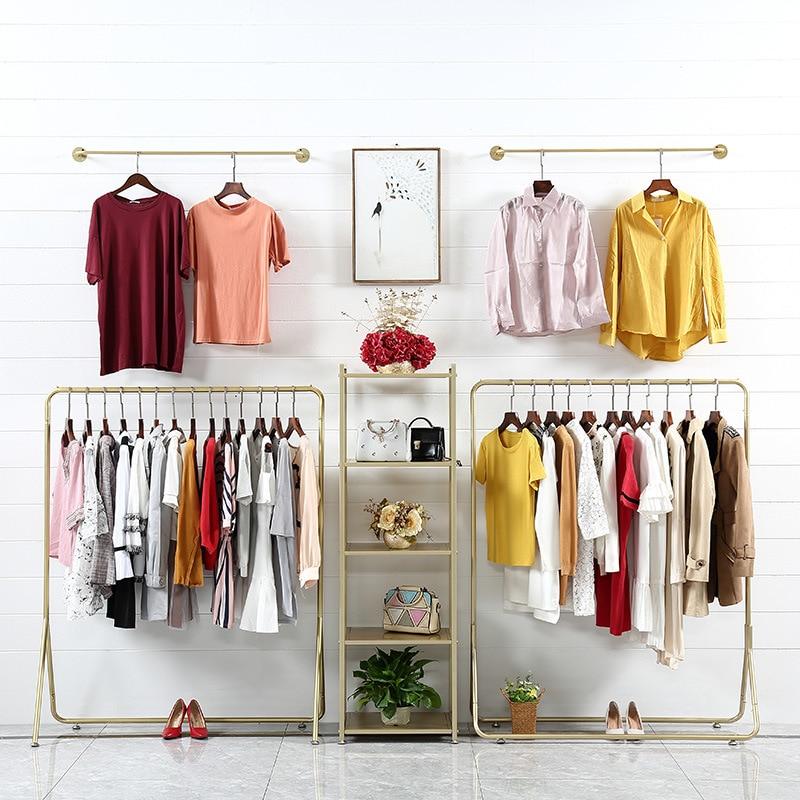 Clothing Rack Clothing Display Rack Floor-type WOMEN'S Clothing Store Combination Hanger Clothing Store Display Rack Light Luxur