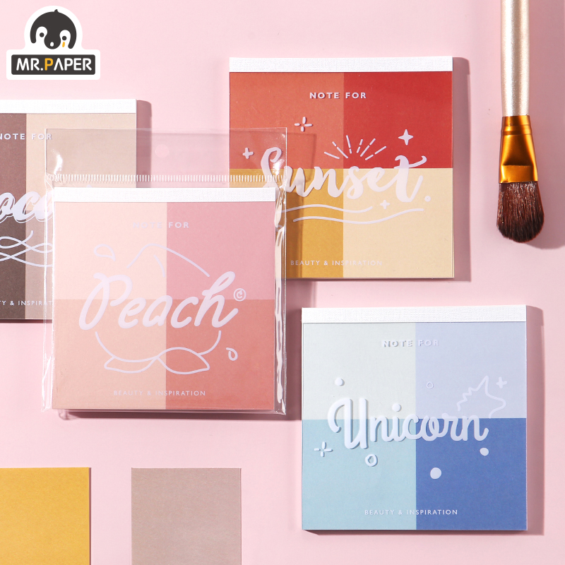 Mr Paper 30pcs/lot 8 Designs Gradual Change Lipstick Colors Loose Leaf Memo Pads Notepad Diary Write Down Notes Memo Pads