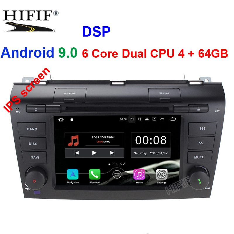 ips DSP Android 9.0 IPS 2 Din Car <font><b>multimedia</b></font> dvd player GPS radio <font><b>For</b></font> <font><b>Mazda</b></font> <font><b>3</b></font> mazda3 2004 2005 2006 <font><b>2007</b></font> 2008 2009 stereo canbus image