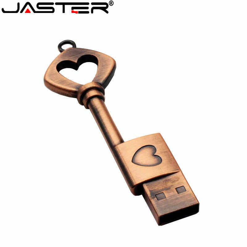 JASTER pen drive metalowe czyste miedziane serce prezent pamięć usb mini pamięć usb klucz oryginalne 4gb 8gb 16gb 32gb 64GB kciuk