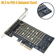 Robuust Ontwerp M2 Ngff M Sleutel Ssd Express Card Adapter Dual M.2 Ngff Naar Pcie X4 Adapter Kaart In 8gbps Voor Windows Linux Mac Os