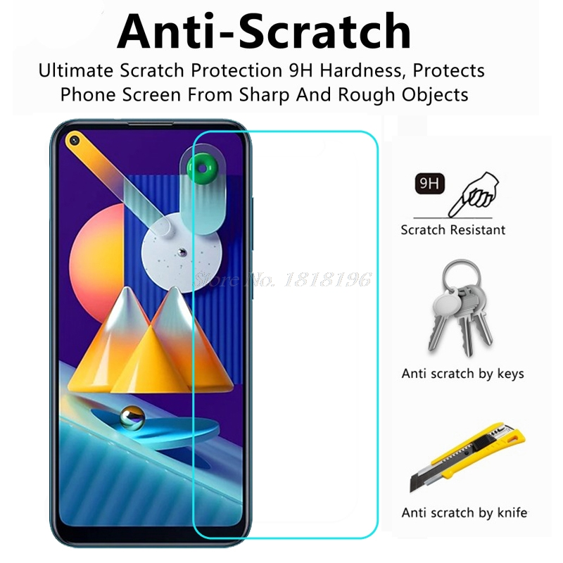 Härdat glas för Samsung Galaxy M11 skärmskydd framglas 0,3 mm - Reservdelar och tillbehör för mobiltelefoner - Foto 2