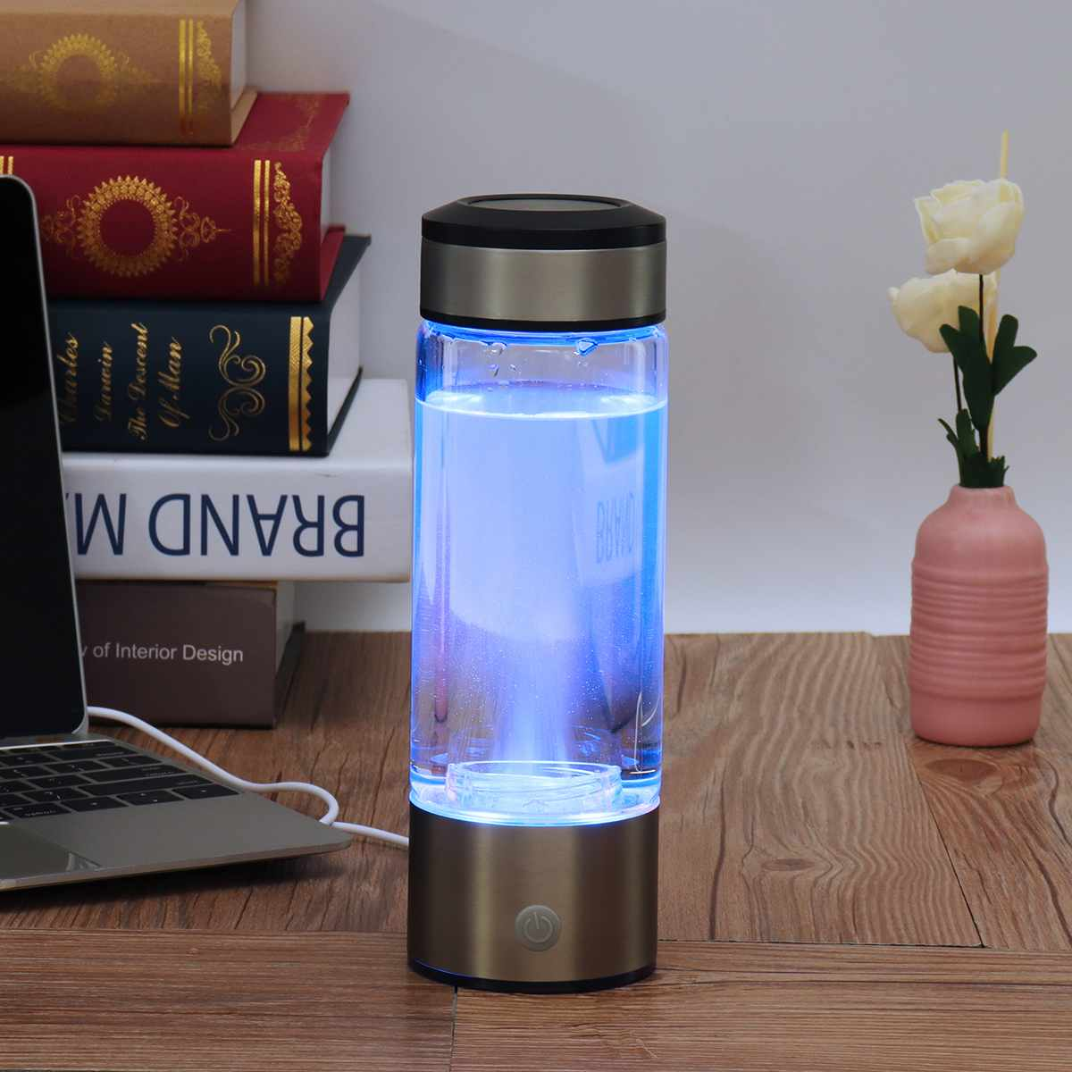 Portable Hydrogen-Rich Water Bottle Alkaline lonizer Hydrogen-Water Generator Maker Rechargeable Water Filter Ionizer Anti-Aging 4