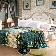 SU GAN Brand discount high density Package edge design winter warm bedspread blanket cover on the bed big size car blanket(China)