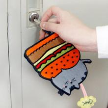 Homemade DIY Lovely Cartoon Felt Non-Woven Keychain Sewing Kit Hanging 1PC