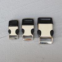 1 Pcs 15/20/25mm Rucksack strap Gürtel Gurtband Metall Schnell Seite Release Schnallen Silber Metall D ring Gürtel Für Tasche Gepäck Im Freien