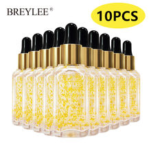 10PCS BREYLEE 24k Gold Serum Collagen Essence Anti-Aging Anti-Wrinkles Firming Face Skin Care Whitening Moisturizing Liquid